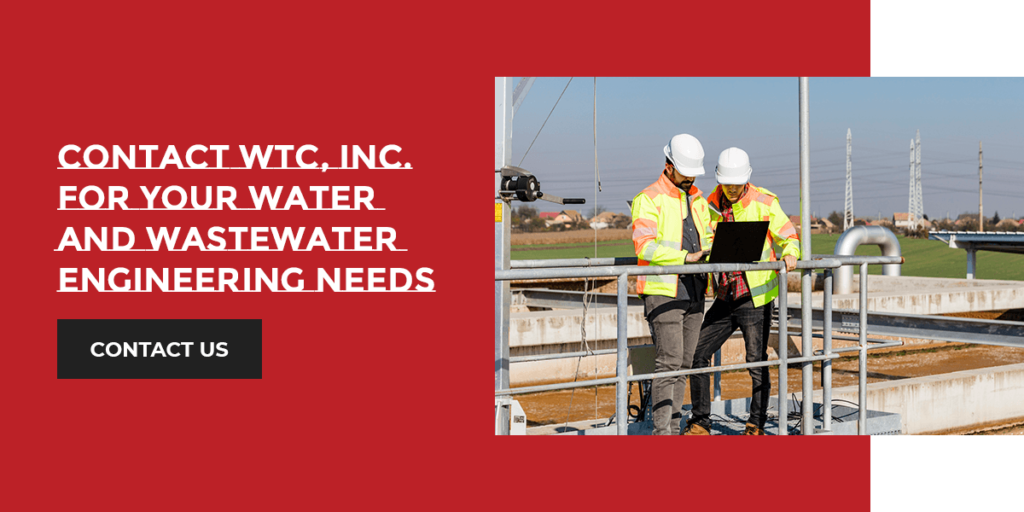 Contact WTC, Inc. for water and wastewater engineering services.